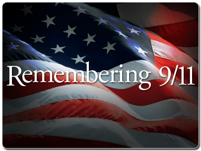 "This image of a flag with the words ""remembering 9/11"" calls us to get some perspective on 9/11."