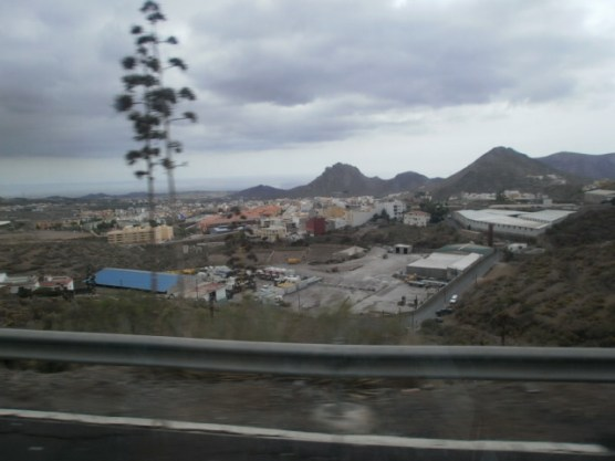 picture taken from a bus