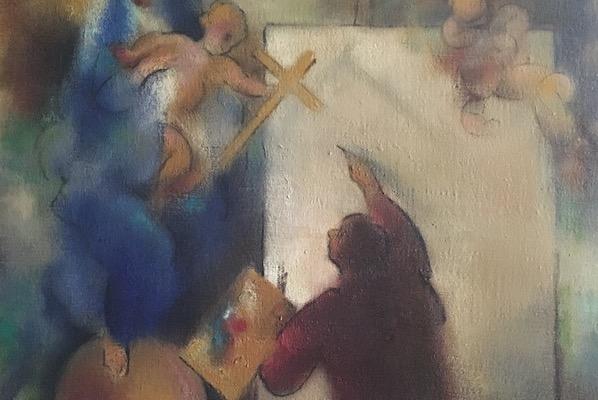 Lukas schildert Maria – beeldmeditatie