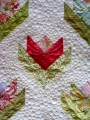 close up of Marian's flower quilt