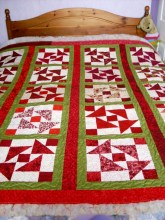 Front of Tessa's Red Quilt
