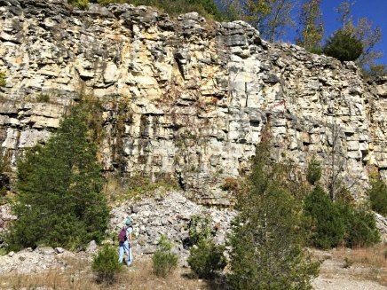 quarry-wall