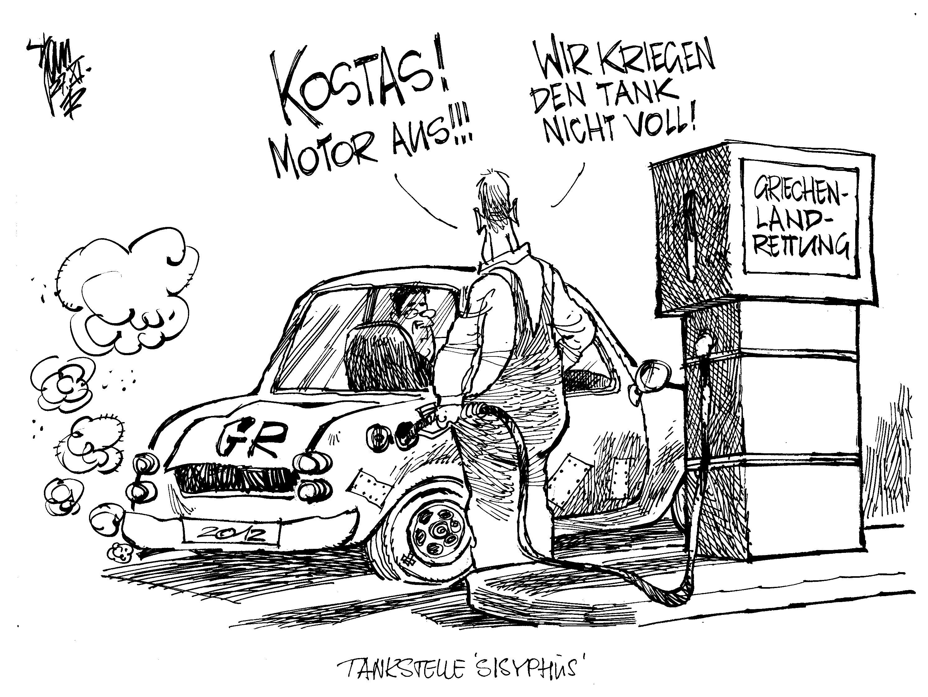 Aktuelle Karikaturen Euro Krise