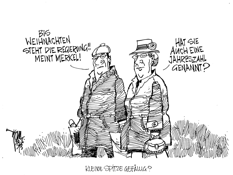 Aktuelle Karikaturen Regierungsbildung