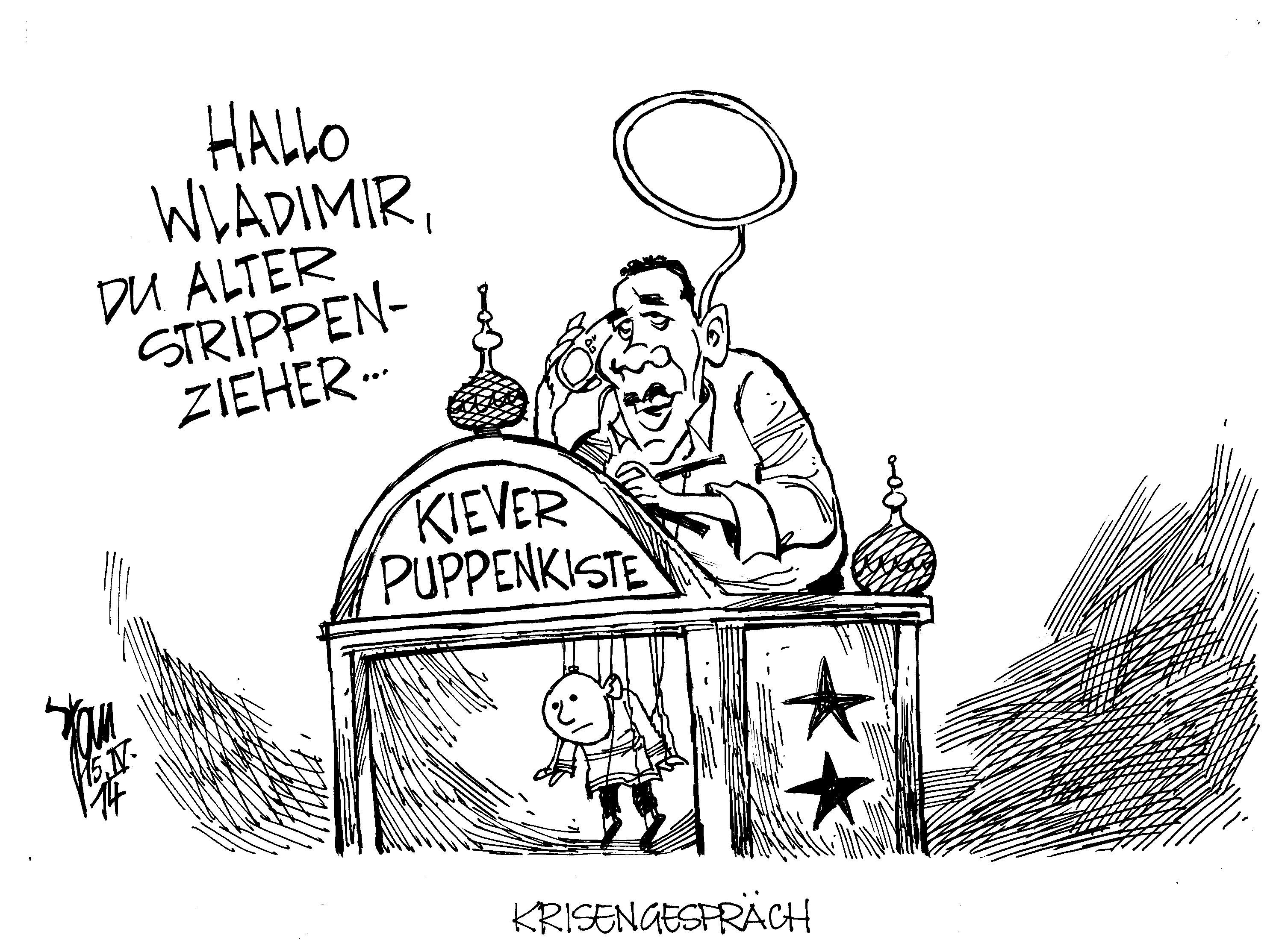 Aktuelle Karikaturen Ukraine Krise