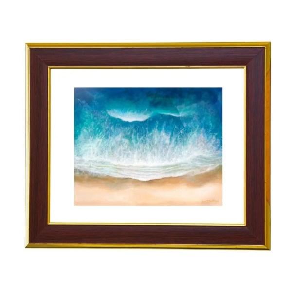 ocean painting art print by jan tetsutani