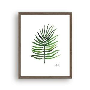 Palm leaf art print by Jan Testutai