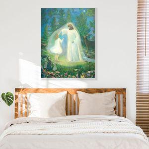 Dancing with Jesus painting by Jan Tetsutani