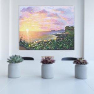 Sunset painting by Jan Tetsutani