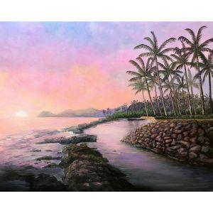 Hawaii beaches | Lanikuhonua Painting by Jan Tetsutani