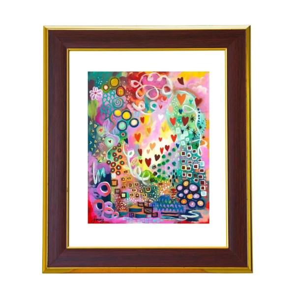 abstract wall art colorful prints by christian artist jan tetsutani