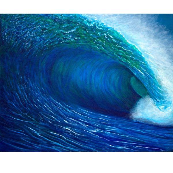 surfing art by Jan Tetsutani