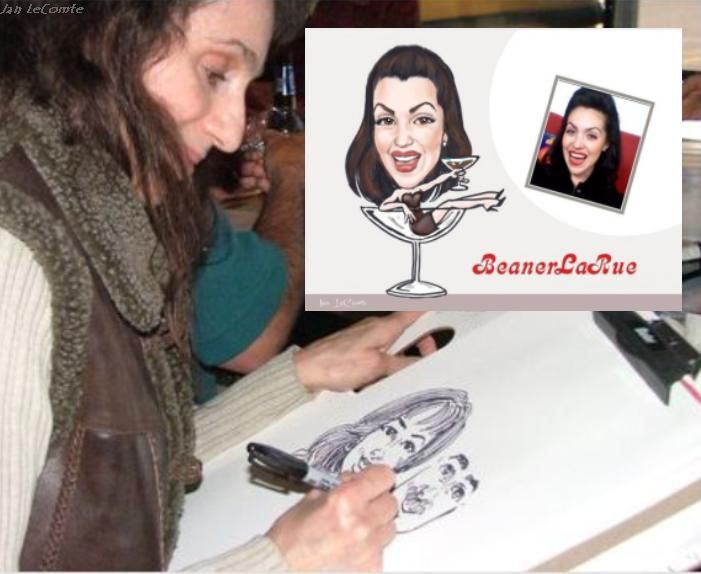 Party Caricature 216 741 2336 Cleveland Ohio Artist Jan LeComte