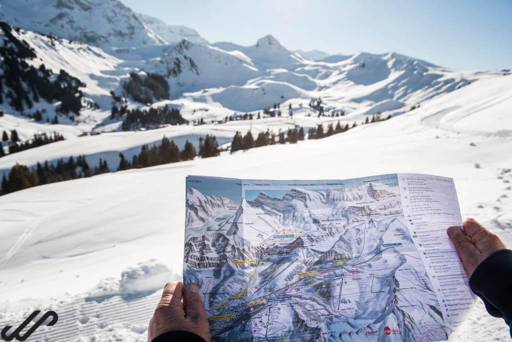 winterwandeling met kaart