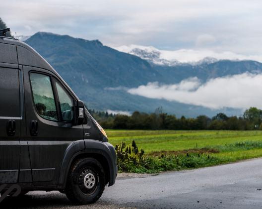 Camper route door Slovenie