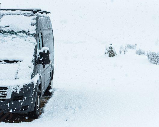 winter kamperen ijsland