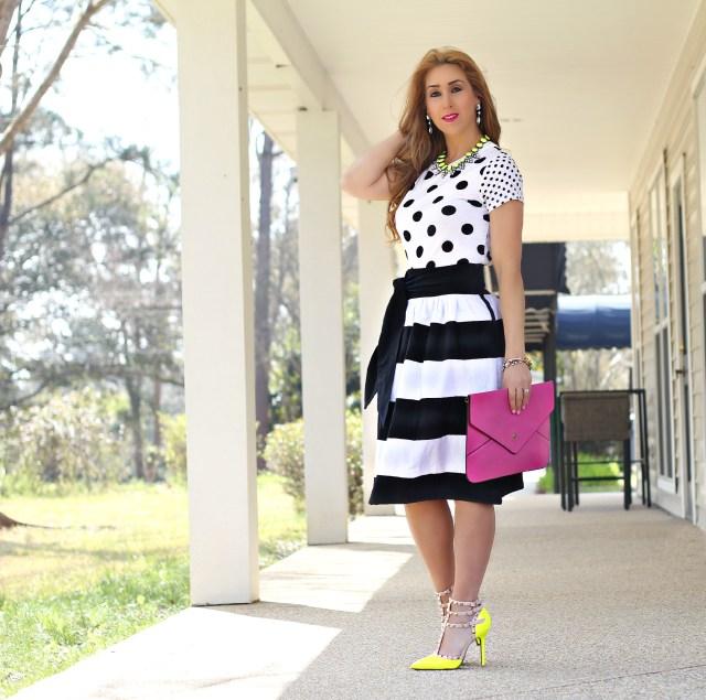 Bold stripe skirt 4