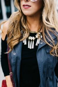 Stella & Dot Tribal Tassel Necklace
