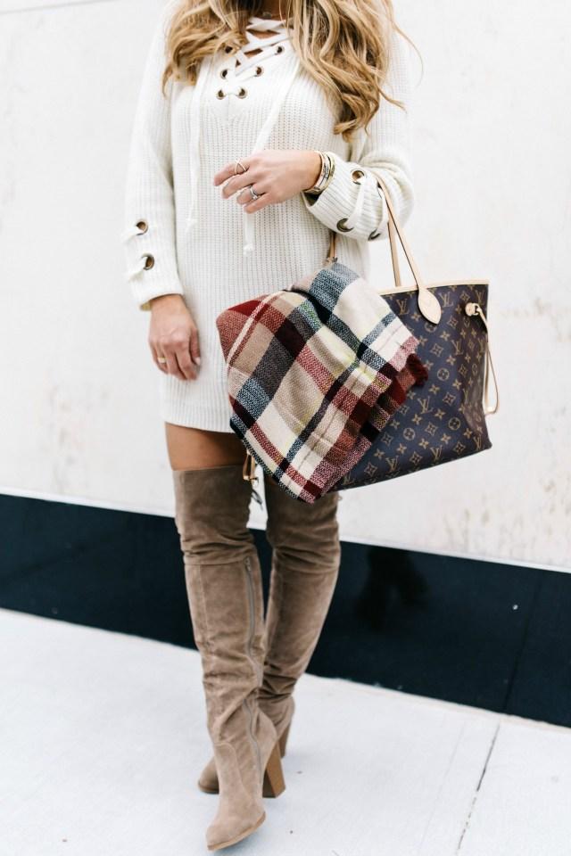 Lace up Knit Sweater | January Hart Blog