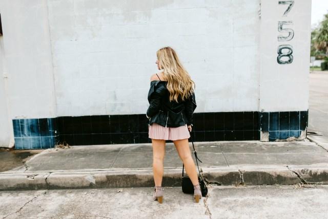 Black Faux Leather Moto Jacket Womens