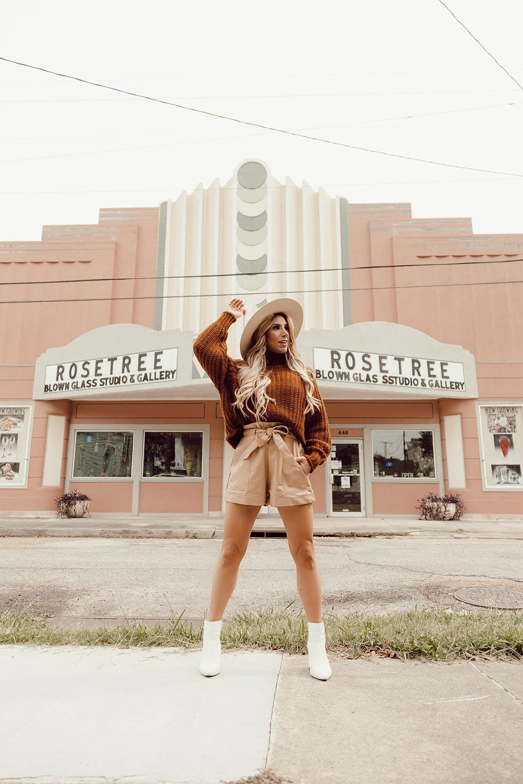 womens rust sweater under $50