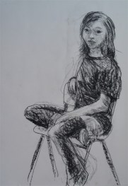 Seated girl. Amsterdam, Netherlands, 2010