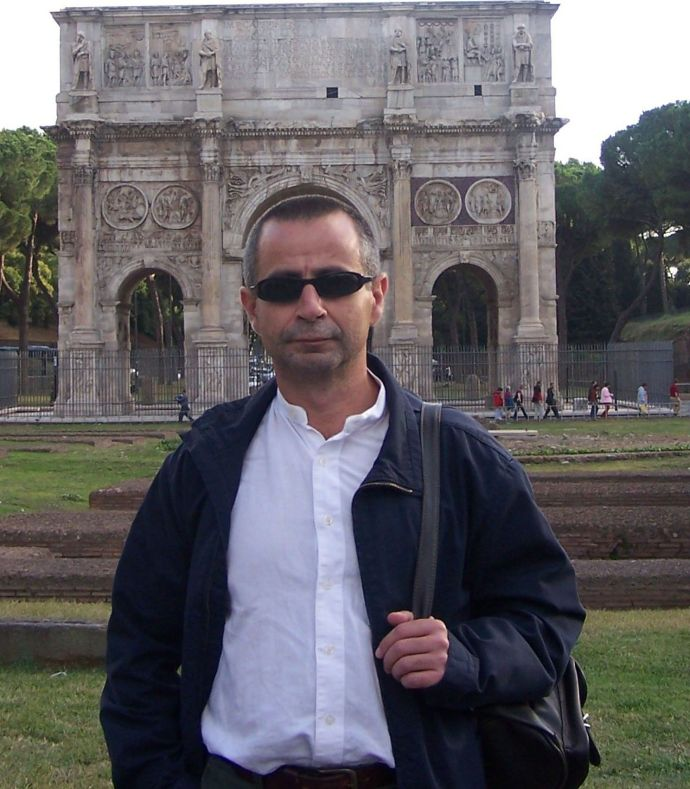 J. A. Ortega visitando Roma en 2007