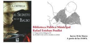 """Invitación para presentación del libro """"EL SECRETO DE LOS BALBO"""" en El Puerto de Santa María"""