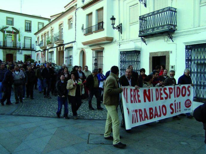 Manifestación de trabajadores del Ayuntamiento de Los Barrios