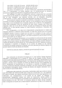 Fallo Sentencia segundo despido de Ortega