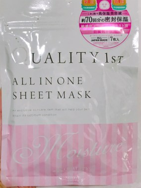 Image of quality 1st all in one sheet mask