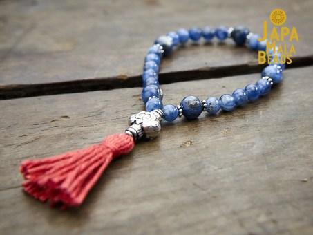 Kyanite and Silver Bracelet Mala