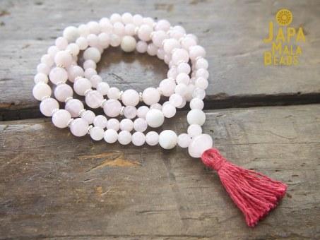 Rose Quartz Necklace Mala
