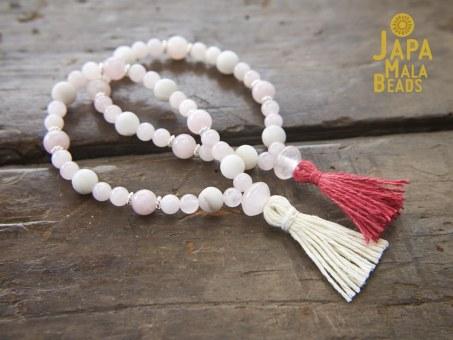 Rose Quartz Bracelet Mala Beads