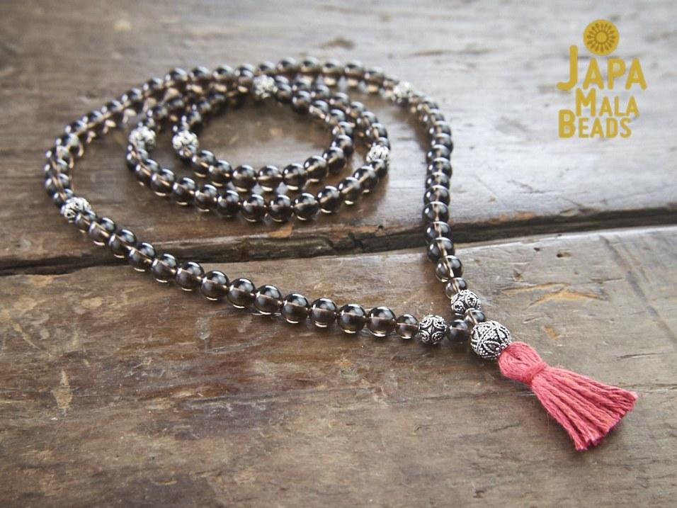 Smoky Quartz Buddhist Prayer Beads