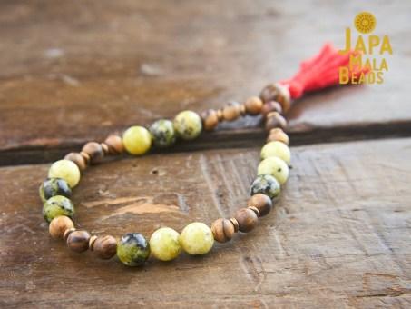 Yellow Turquoise Bracelet Mala Beads