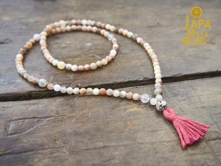 Peach Moonstone Full Mala