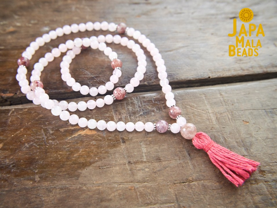 Rose Quartz and Cherry Quartz Full Mala