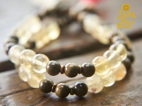 Yellow Fluorite Mala Beads