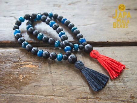 Black Onyx Apatite Bracelet Prayer Beads