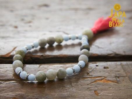 Angelite and Labradorite Bracelet Prayer Beads