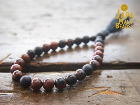 Mahogany Obsidian Wrist Mala