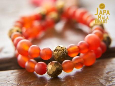 Carnelian Bracelet Prayer Beads
