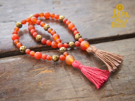 Carnelian Bracelet Mala Beads