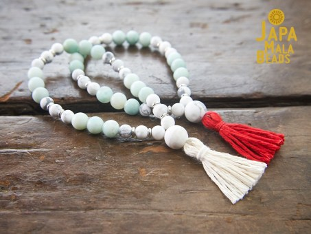 Howlite and Amazonite Meditation Malas