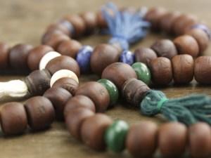 Gemstone Bodhi Seed Mala