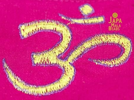Embroidered Om Large Mala Bag