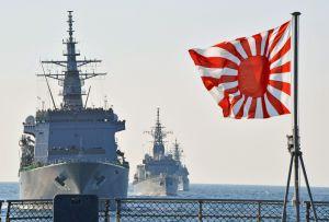 Jepang Berteguh Mengibarkan Bendera Matahari Terbit, untuk Melewati Peninjauan Angkatan Laut Korea Selatan