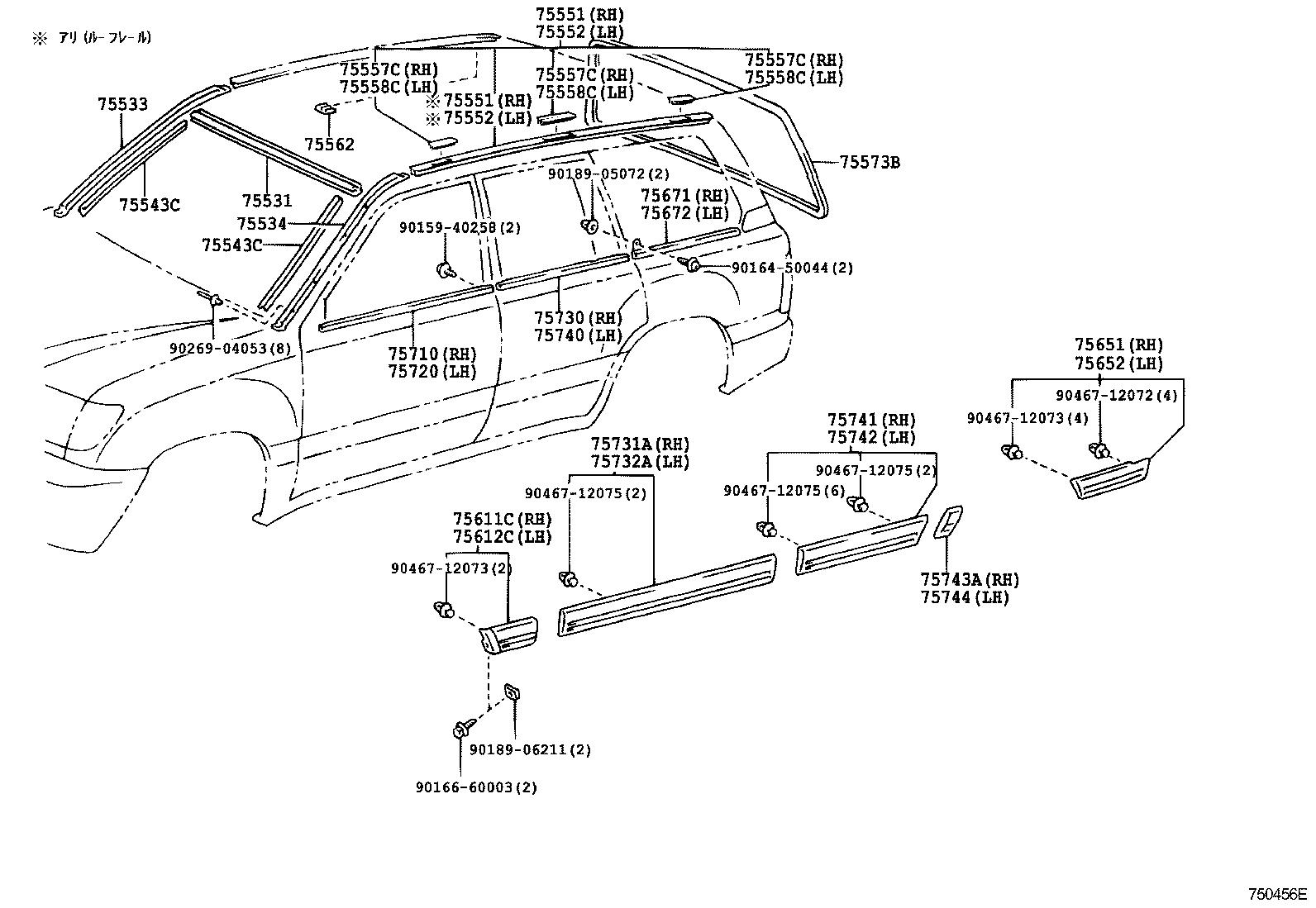 Toyota Land Cruiser 100uzj100l Gnpeka