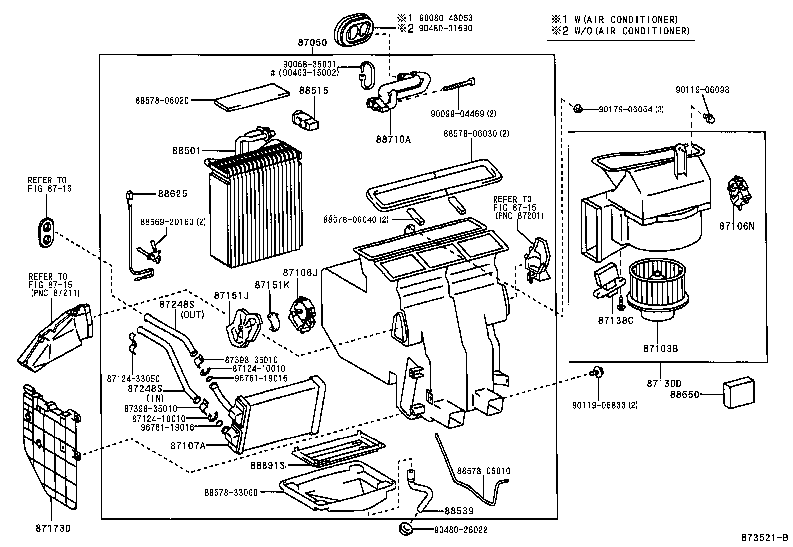 Toyota Camry Ac Parts Diagram Toyota Auto Parts Catalog
